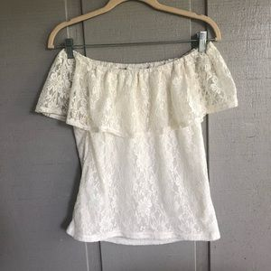 Tops - 4/$25 Off The Shoulder Lace Top